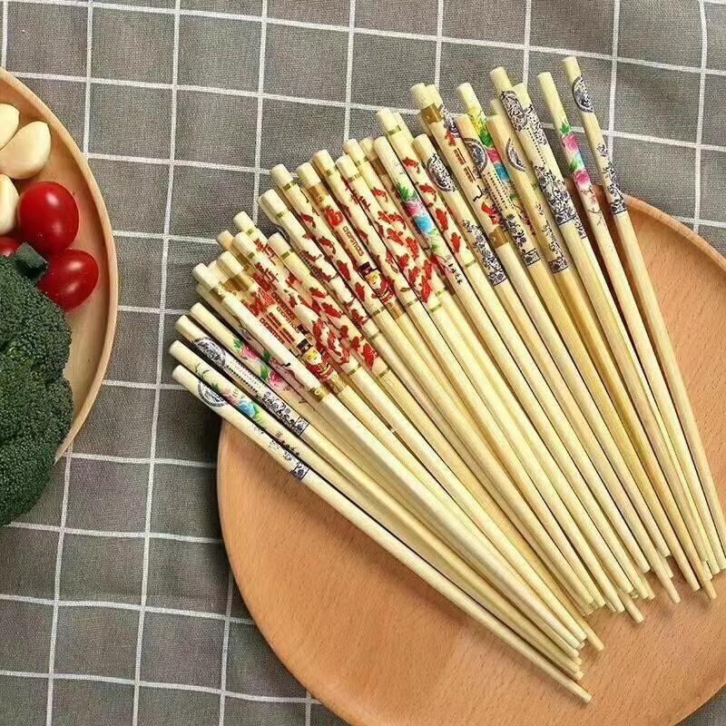 江湖地摊阿里山筷子 无节点头筷子 顺节甜竹筷 阿里山印花竹筷子